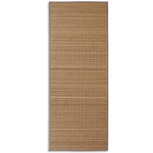 vidaXL Bambusteppich Teppich Matte Küchenteppich Bambusmatte Vorleger Läufer