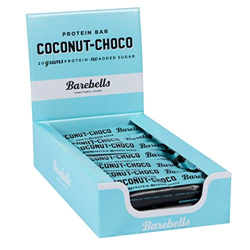 Barebells Protein Bar Coconut-Choco | High Protein Low Carb | Low Sugar | 20g of Protein in Every 55g Bar | Delicious Indulgent Protein Bars for Muscle Performance & Recovery