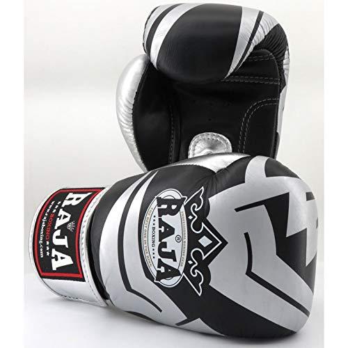 Raja Boxing RFBGV6BS_14 Handschuhe, Unisex, Erwachsene, Schwarz/Silber, Unzen