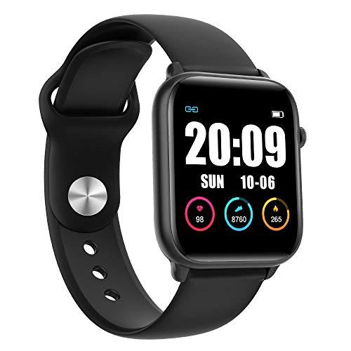 MOLINB Slim horloge Dames Smart horloge IP68 Waterdichte hartslag Bloeddrukmeting Heren Dames Smartwatch voor Android Apple iPhone