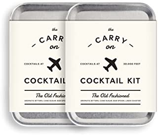 W&P MAS-CARRY-KIT-2 Carry on Cocktail Kit, Old Fashioned, Travel Kit for Drinks on the Go, Craft Cocktails, TSA Approved, Pack of 2