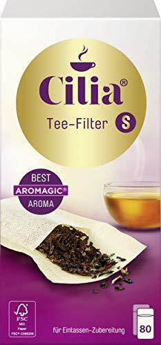 Cilia Teefilter Größe S, halterlos, für 1-Tassen-Zubereitung - 80 St.