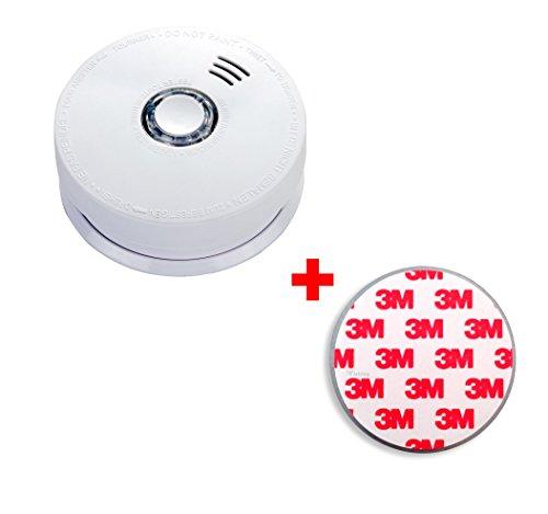 Jeising GS508 Rauchmelder/Brandmelder/ 10 Jahres Batterie fest verbaut VdS zertifiziert EN14604:2005/AC-2008 inkl. 1 x Magnetbefestigung Magnetopad