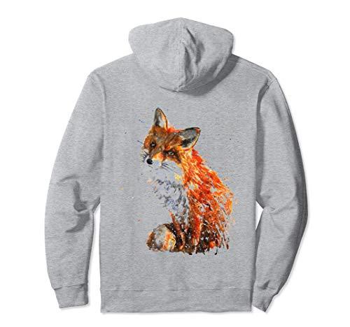 Fuchs , Handbemalter Fuchs Pullover Hoodie