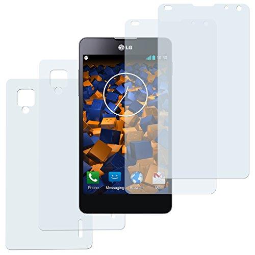 mumbi Schutzfolie kompatibel mit LG Optimus G Folie klar, Bildschirmschutzfolie (2X)