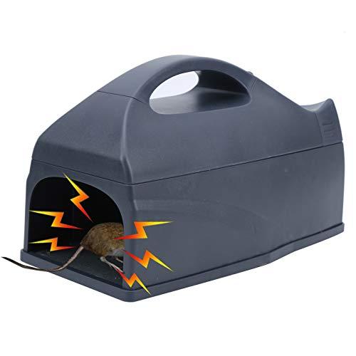 Trampas para ratas, trampa para ratones humana, trampa para ratones eléctrica reutilizable de 7000 V para exteriores e interiores, trampa para ratones con wifi, soporte electrónico inteligente de alto