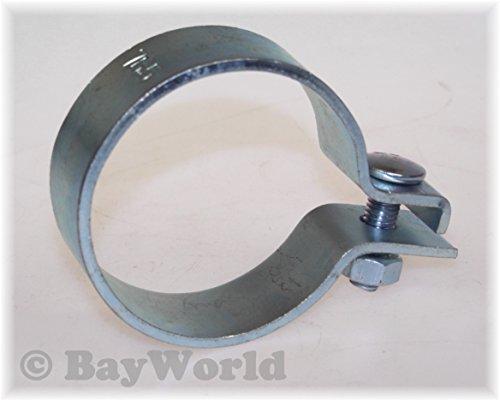 DIN Schelle 76,5mm Stahl verzinkt 3.00 Zoll Breitbandschelle Auspuffklemme