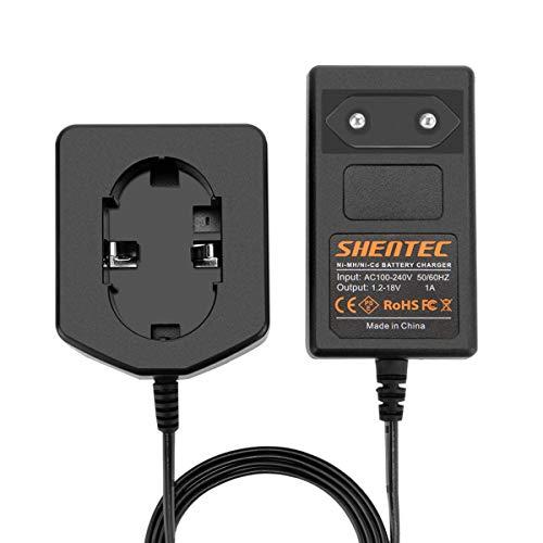 Shentec 1.2V-18V Cargador UC18YG Compatible con Hitachi Ni-MH/Ni-Cd 7.2V 9.6V 12V 14.4V 18V Batería estilo Pod (no para batería de iones de litio)