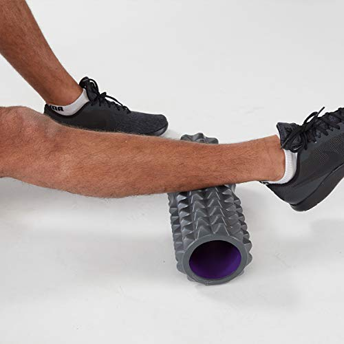 Product Image 7: Planet Fitness Muscle Massager Foam Roller for Deep Tissue Massage , Back , Trigger Point Therapy , Grey 13″