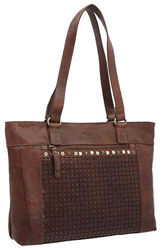 Mala Leather Warwick Collection Leather Shoulder Bag 7157_26 Tan