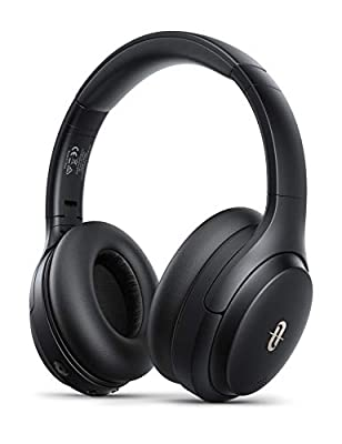 Hybrid Active Noise Cancelling Headphones, TaoTronics 35 Hrs Playtime Over Ear Headphones Foldable 8.0 Mic Soft Protein Earpads with High Clarity Sound Powerful Bass for Travel Work TV PC Cellphone from TaoTronics