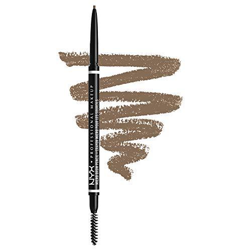 NYX Professional Makeup Micro Brow Pencil, Beidseitig mit ausdrehbarem Augenbrauenstift und Bürstchen, Vegane Formel, Farbton: Taupe
