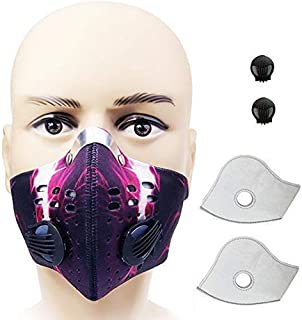 Cycling Sports Running Outdoor Activated Carbon N99 Filter Dust Anti Pollution Anti Pollen Allergy Filtration Exhaust Gas Mask Mouse-Muffle Ski Training Facemask Bike Half Face Dustproof