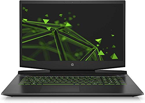 HP Pavilion Gaming 17-cd0228ng (17,3 Zoll / FHD IPS 144Hz) Gaming Laptop (Intel Core i7-9750H, 16GB DDR4, 1TB HDD, 512GB SSD, Nvidia GeForce GTX 1660Ti Max-Q 6GB DDR6, Windows 10) schwarz/grün