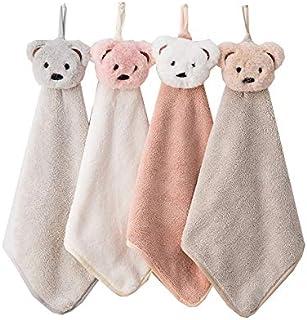 UCTOP STORE 4 szt. ręcznik do rąk dla dzieci z mikrofibry, mały ręcznik do suszenia rąk piękny ręcznik do kuchni łazienki,...