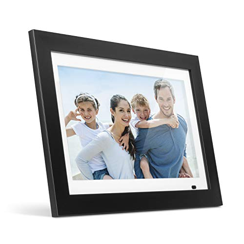 """digital memory frames Aluratek 14"""" LCD Digital Photo Frame with 4GB Built-in Memory with Remote, USB SD/SDHC Support, w/White Matting (ADMPF214FB), Black"""