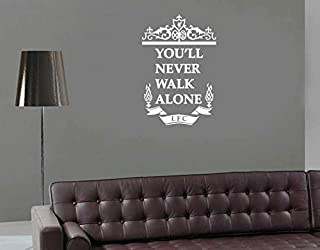 CECILIAPATER Liverpool Wall Decal Liverpool Sticker for Living Room Kids Room Home Decor You'll Never Walk Alone Vinyl Decal YNWA