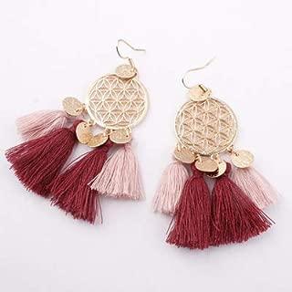 Bohemia Alloy Flowers Earrings Long Tassel Women's Earrings Tassel Earring For Women Dream Catcher Earring 6