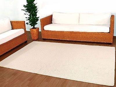 Natur Wolle Teppich Berber Malta Wollweiss 80x160 cm SONDERAKTION