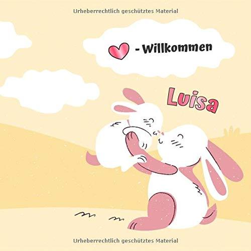 Herzlich Willkommen Luisa: Babygeschenke mit Namen Mädchen / Geburtsgeschenk Ideen / Namensgeschenk Baby / Babygeschenke personalisiert zur Geburt
