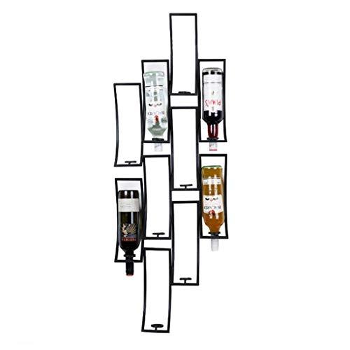 Bandeja de almacenamiento Estantes de vino Altura ajustable Titular de la botella de vino Metal Iron Vino Copa de vino Rack Cubilet Stemware Racks Estante de almacenamiento de decoración de estilo vin
