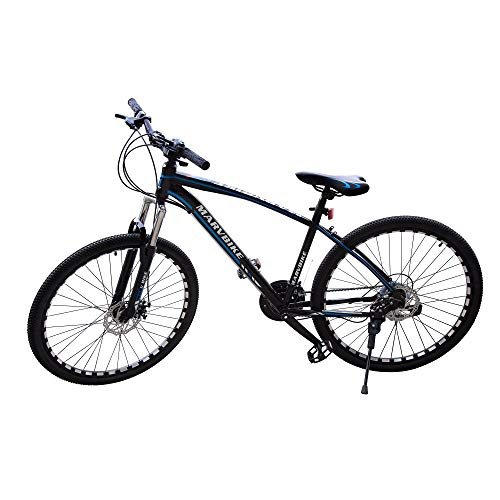 PREMIUMA Marvbike 21 Speed Mens Mountain Bike 26 Inches Wheels Bicycle Front Suspension MTB, Blue