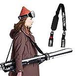 auvstar Invernali Ski Tracolla,Regolabile Portatile Cinghie da Sci,Sci e Pole Strap,Facilmente...