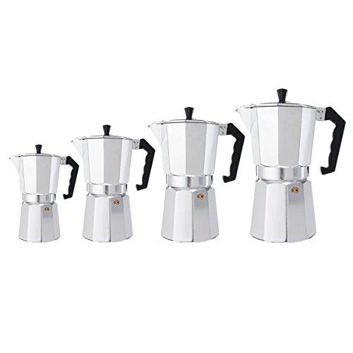 TuToy 3/6/9/12 Kopjes Aluminium Espresso Moka Percolator Draagbare Koffiezet Kookplaat Thuis Diy, 300ml, 1