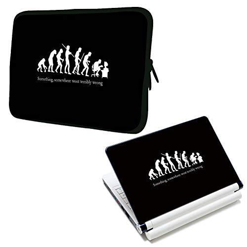 """LUXBURG® 17\"""" Zoll Notebooktasche Tasche aus Neopren Schutzhülle Sleeve Plus freie Laptop-Aufkleber"""