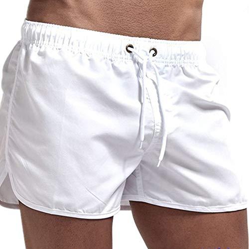 N\P Pantalones cortos de verano para hombre de color sólido para hombre, sueltos, transpirables, casuales.