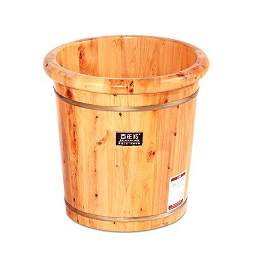 Find Cheap BYCDD Foot Basin, Household Foot Bath Barrel Foot Basin Wooden Bucket Foot Washing Barrel...