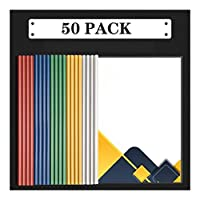 ビジネスクリップボード レポートカバー|プレゼンテーションフォルダ(20/50/100個)|クリアバインダー|クリアフロント報告書は、バーをスライドして紙プランをクリアバインダープラスチックファイルフォルダをカバー 事務用品 (Color : B)