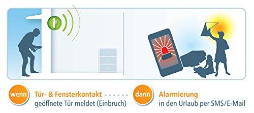 devolo Home Control Türkontakt/Fensterkontakt (Z-Wave Hausautomation, Haussteuerung per iOS/Android App, Smart Home Sensor, Funk Magnetkontakte) weiß - 4