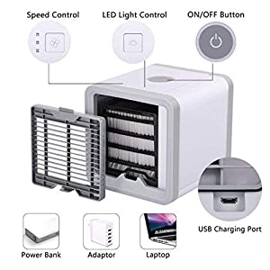 yinshao Mini Aire Acondicionado portátil Coche silencioso USB 3 en ...