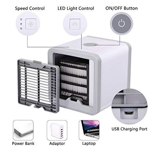 Miniacondicionador de aire portátil; humidificador y purificador del aire; con puerto de...