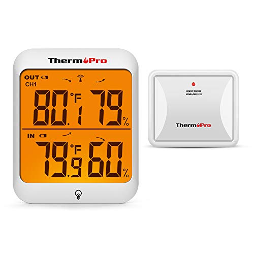 ThermoPro TP63A Waterproof Indoor Outdoor Thermometer Digital Wireless Hygrometer Humidity Gauge...