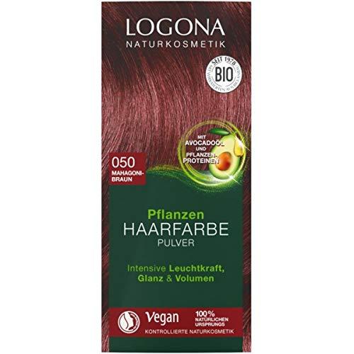 Logona Pflanzen-Haarfarbe-Pulver mahagonibraun (100 g)
