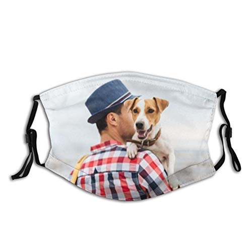 yanfind Dog Pet Guy Carrying Cute Photo Young Affection Bag Best Camera Casual Dust Washable Reusable Filter and Reusable Mouth Warm Windproof Cotton Face