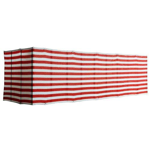 Balcón Pantalla De Privacidad, Cubierta De Valla De HDPE, Malla De Privacidad, Proteccion Solar Ventilación con Cuerdas Y Ataduras para Terraza, Jardín, Piscina (Color : Red White, Size : 1.2x4m)