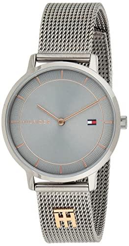 Tommy Hilfiger Damen Analog Quarz Uhr mit Edelstahl Armband 1782285