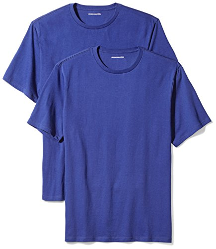 Amazon Essentials 2-Pack Regular-Fit Short-Sleeve Crewneck T-Shirts Camiseta, Azul (Navy), X-Large