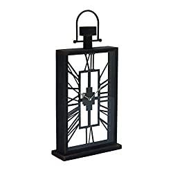 Deco 79 67761 Metal Glass Table Clock, 12 x 27