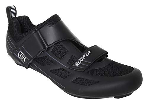 Gavin Triathlon/Road Mesh Cycling Shoes Mens Womens Black