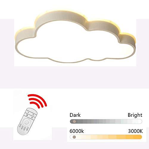 Plafond, wolken, led, plafondlamp, 360 ° straling, wit licht, warm wit licht en dimbaar, optioneel voor jongens en meisjes