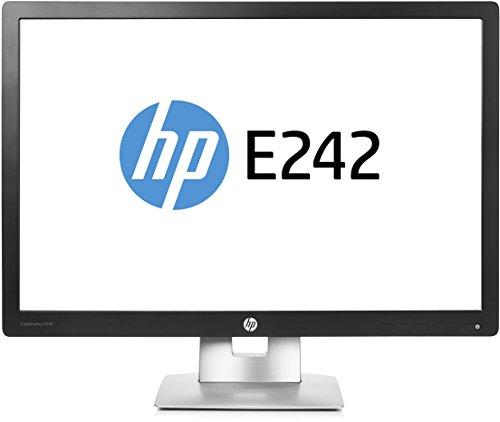 HP EliteDisplay E242 61cm (24 Zoll) Monitor (Full HD HDMI VGA DisplayPort 12,7ms Reaktionszeit) schwarz
