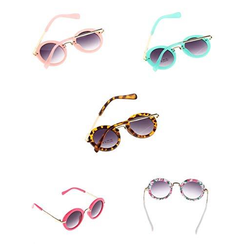 MagiDeal 5 Piezas Moda Bebé Niños Niñas UV400 Marco de Metal Gafas de Sol Gafas