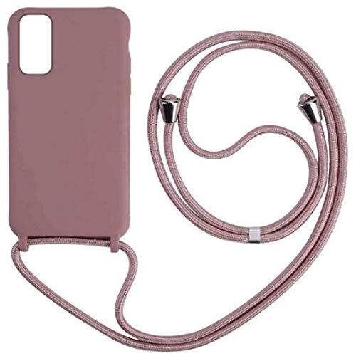 JMstore Funda con Cuerda Compatible con Samsung Galaxy S10 Ajustable Collar Correa de Cuello Cordón Carcasa de Silicona Colgante (Oro Rosa)