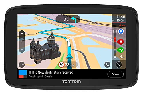 TomTom Go Supreme 5 WiFi with Lifetime Traffic and Maps (Us-Can-Mex), Spoken Turn-by-Turn Directions, Advanced Lane Guidance