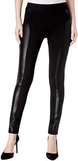 Inc International Concepts Metallic-Print Moto Leggings Deep Black 16
