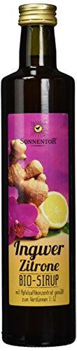 Sonnentor Bio Ingwer-Zitronen Sirup, 2er Pack (2 x 500 ml)